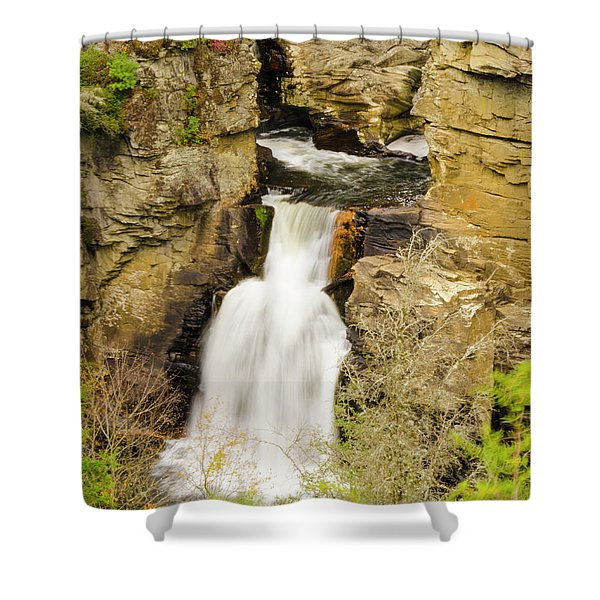 Linville Falls - Closeup Shower Curtain