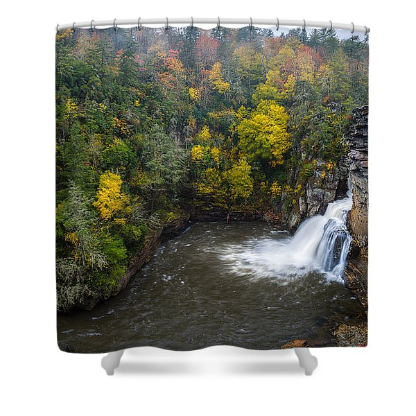 Linville Falls - Linville Gorge Shower Curtain