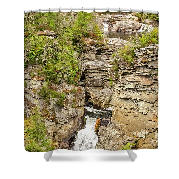 Linville Falls - Vertical Shower Curtain