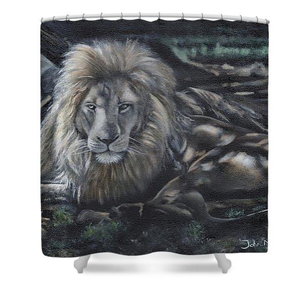 Lion In The Shade Shower Curtain