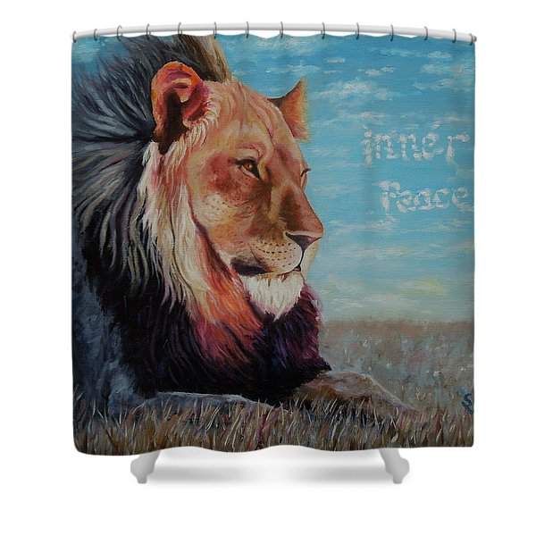 Lion - Inner Peace Shower Curtain