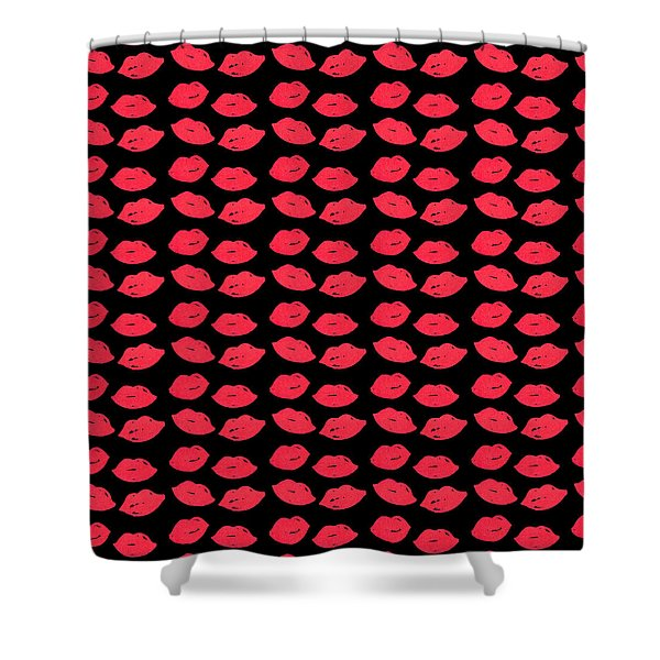 Shower Curtain featuring the digital art Lips by Bee-Bee Deigner