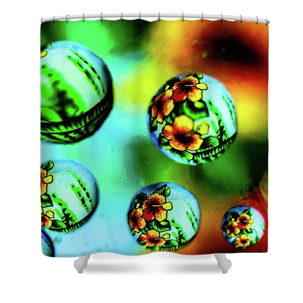 Liquid Lenses Shower Curtain