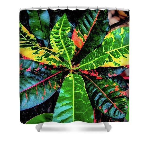 Liquid Tropical Colors Shower Curtain