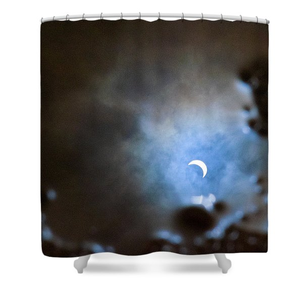 Liquified Solar Eclipse Shower Curtain