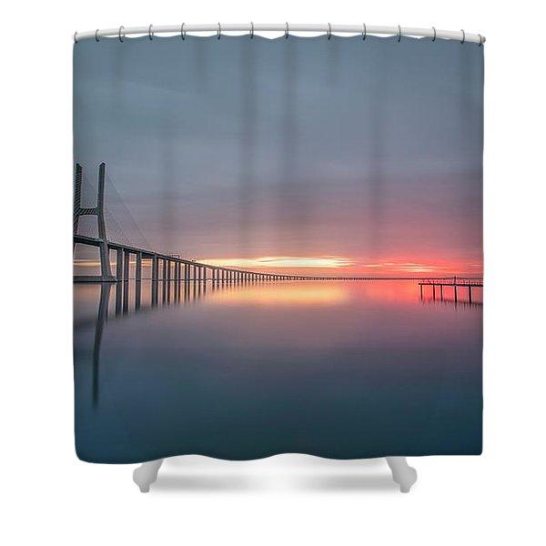 Lisbon.. Finally Shower Curtain