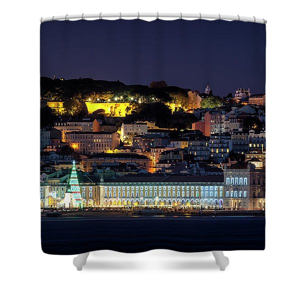 Lisbon In Christmas Time Shower Curtain