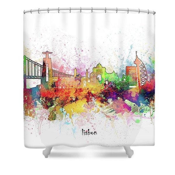 Lisbon Skyline Artistic Shower Curtain