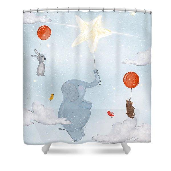 Little Bright Star Shower Curtain