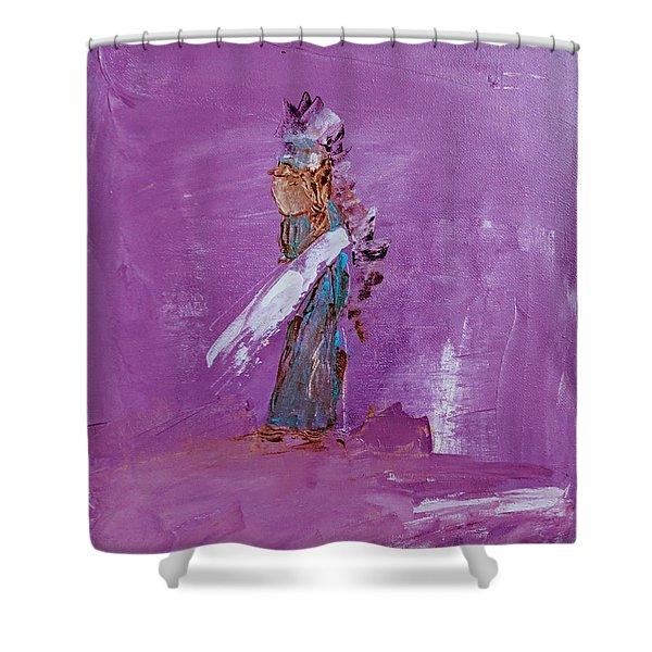 Little Indian Angel Shower Curtain