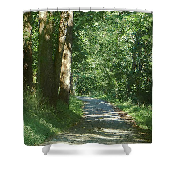 Little Lehigh Parkway Path Shower Curtain