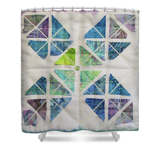 Little Sister's Kite Tails Shower Curtain