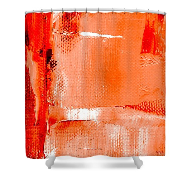 Living Coral Spectrum Abstract Shower Curtain