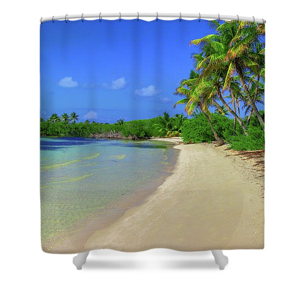 Living On An Island Shower Curtain