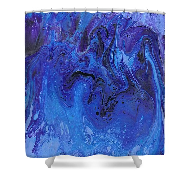 Living Water Abstract Shower Curtain