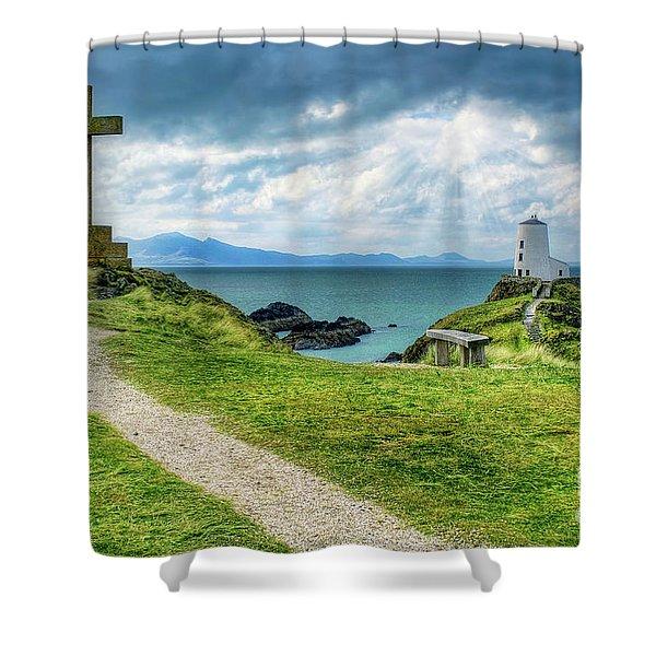 Llanddwyn Island Shower Curtain