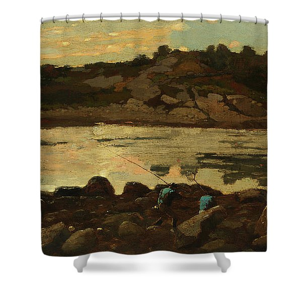 Lobster Cove, Manchester, Massachusetts Shower Curtain