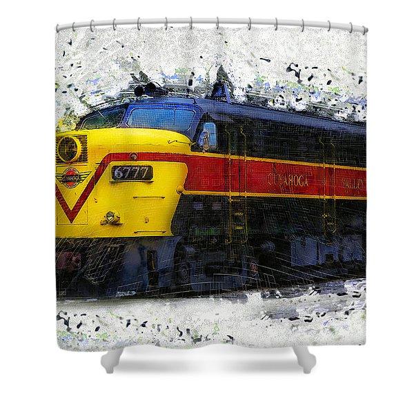 Loco #6777 Shower Curtain