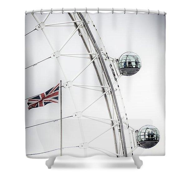 London Eye And Union Jack Shower Curtain