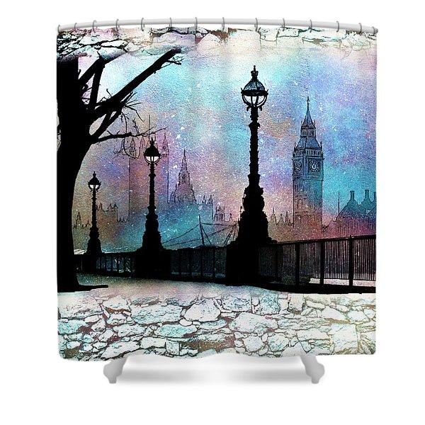 London Night Shower Curtain