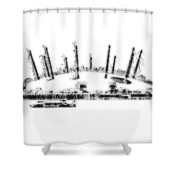 London O2 Arena Shower Curtain