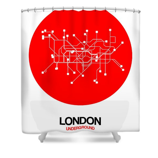 London Red Subway Map Shower Curtain