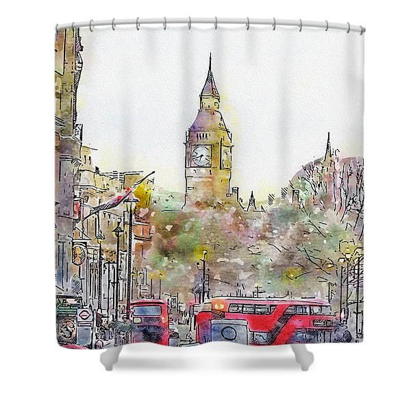 London Street 4 Shower Curtain