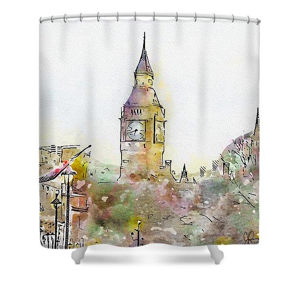 London Street 5 - Big Ben Shower Curtain