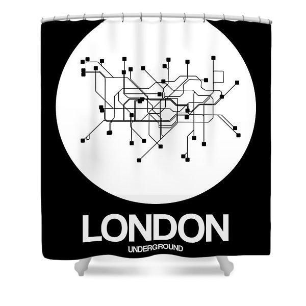 London White Subway Map Shower Curtain