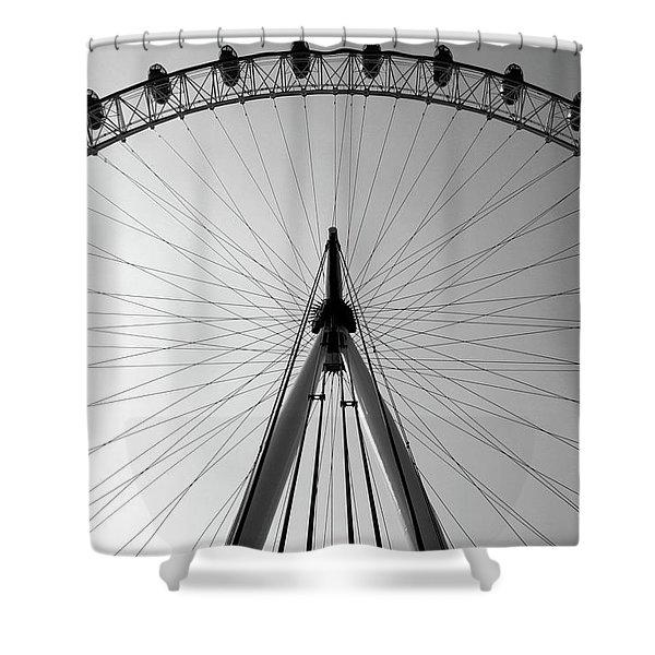 London_eye_i Shower Curtain