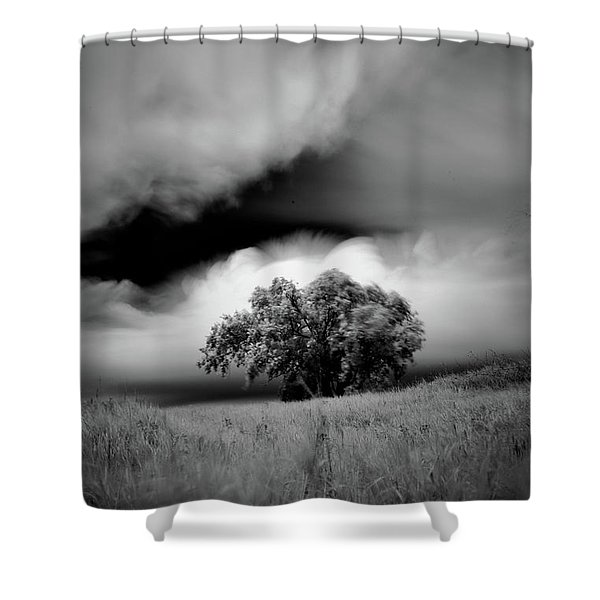 Lone Tree On A Hill Shower Curtain