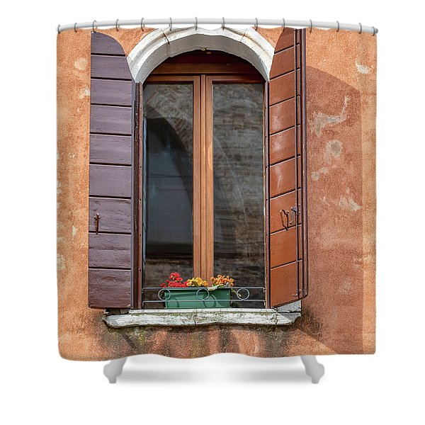 Lone Window Of Venice Shower Curtain
