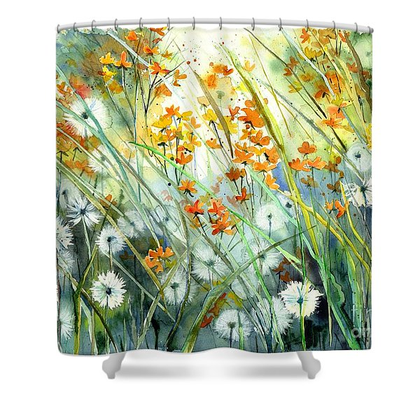 Lonely End Of The Summer Shower Curtain