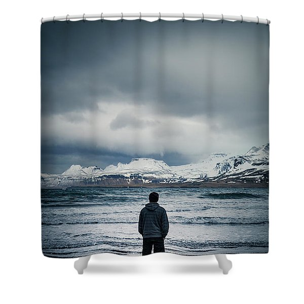 Lonely Seas Shower Curtain