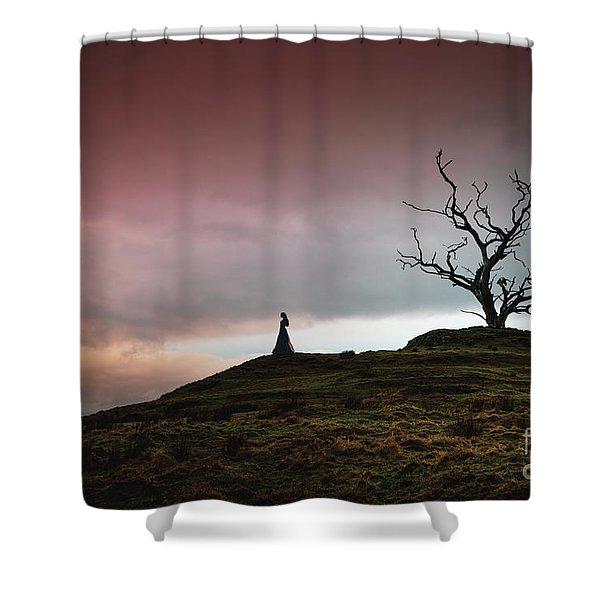 Lonesome Sundown Shower Curtain
