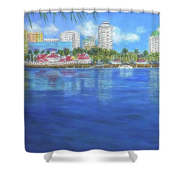 Long Beach Shoreline Shower Curtain
