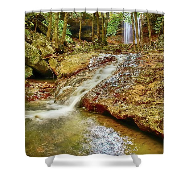 Long Falls Shower Curtain