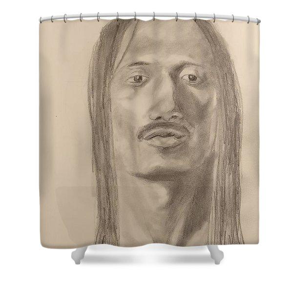 Long Hair Style Shower Curtain
