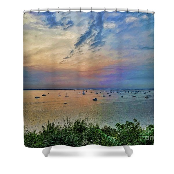 Long Island Sound From Glen Cove Shower Curtain