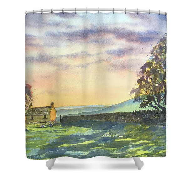 Long Shadows At Sunset Shower Curtain