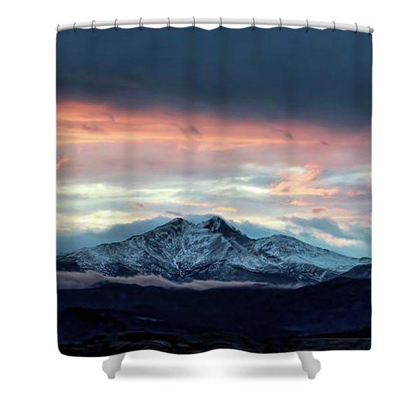 Longs Peak At Sunset Shower Curtain