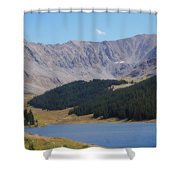Longs Peak Colorado Shower Curtain