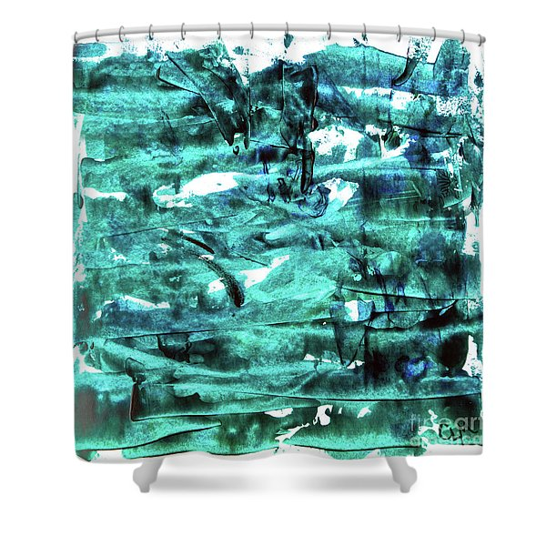 Look For The Blue Heart Shower Curtain