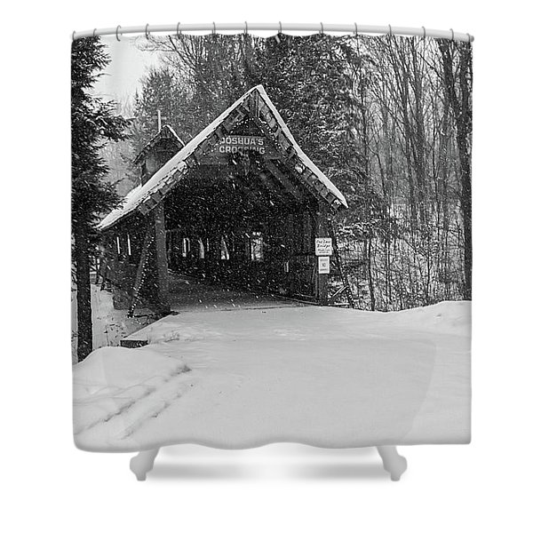 Loon Song Covered Bridge 3 Shower Curtain