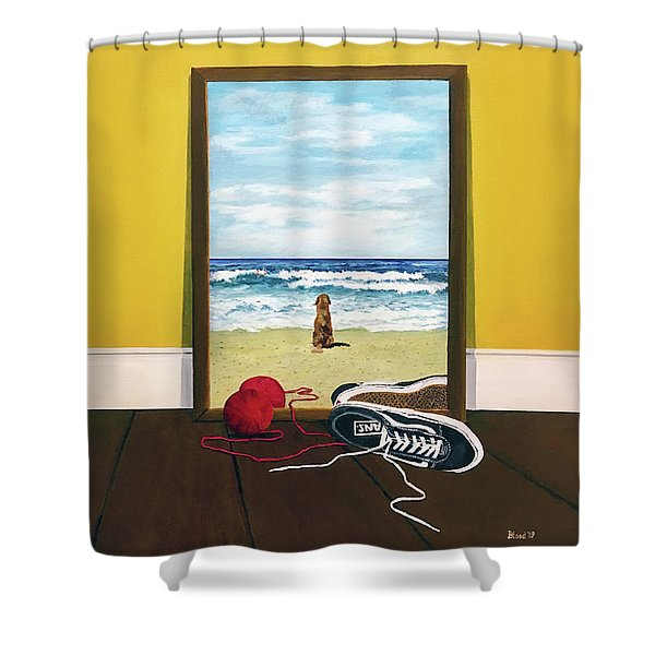 Loose Ends Shower Curtain