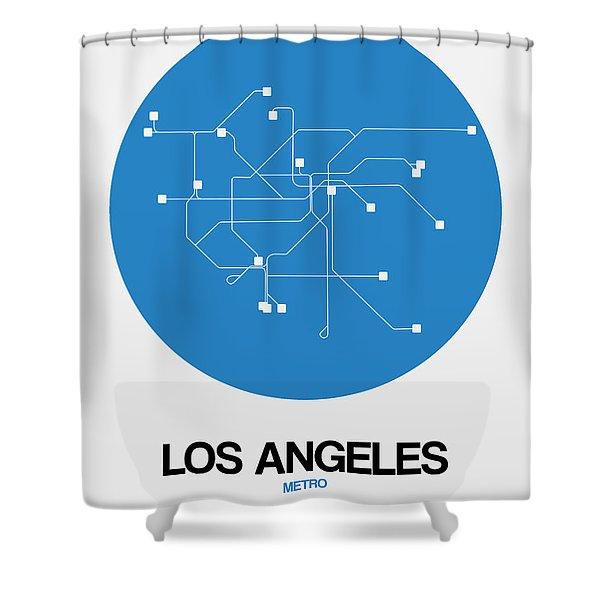 Los Angeles Blue Subway Map Shower Curtain