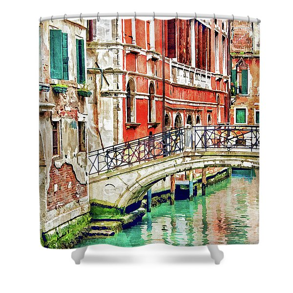 Lost In Venice Shower Curtain