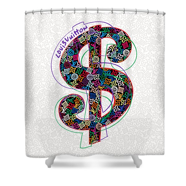 7d0ba5ea9b Louis Vuitton Dollar Sign-1 Shower Curtain