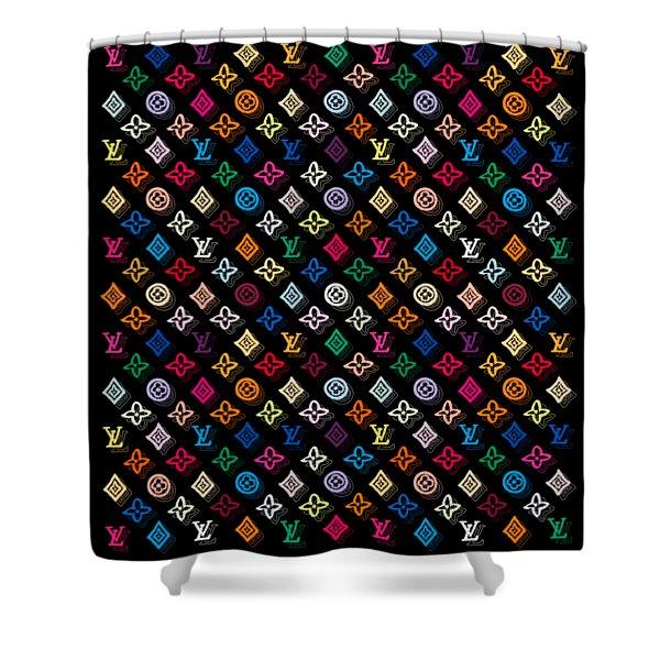 Louis Vuitton Monogram-4 Shower Curtain