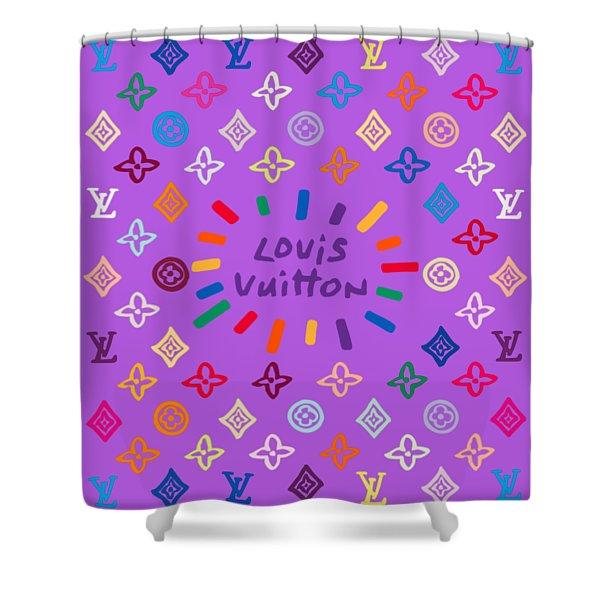 Louis Vuitton Monogram-8 Shower Curtain